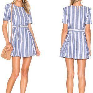 Tularosa Iris cotton striped belted mini dress xs